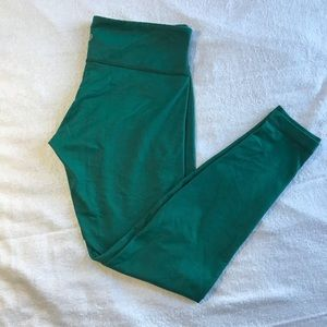 Lululemon Wunder Under Legging Pant Green Size 10